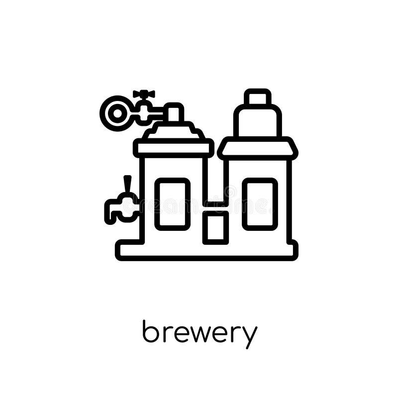 Ícone da cervejaria da coleção das bebidas ilustração stock