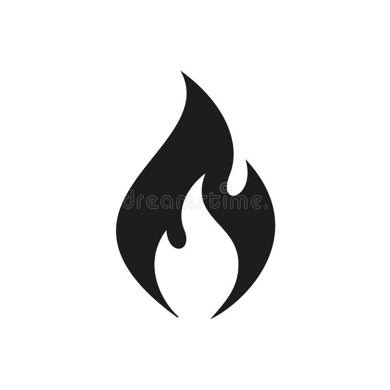 Ícone da chama do vetor ilustração royalty free