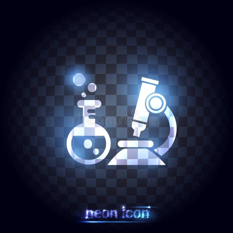 Ícone da ciência série de néon ilustração do vetor