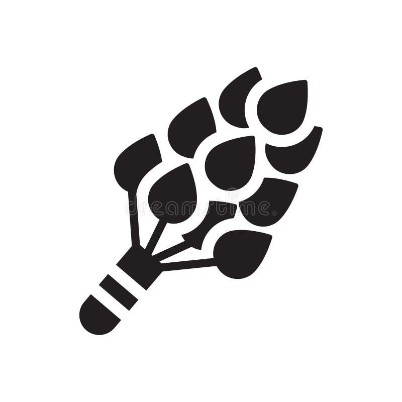 Ícone da cicuta Conceito na moda do logotipo da cicuta no fundo branco franco ilustração royalty free