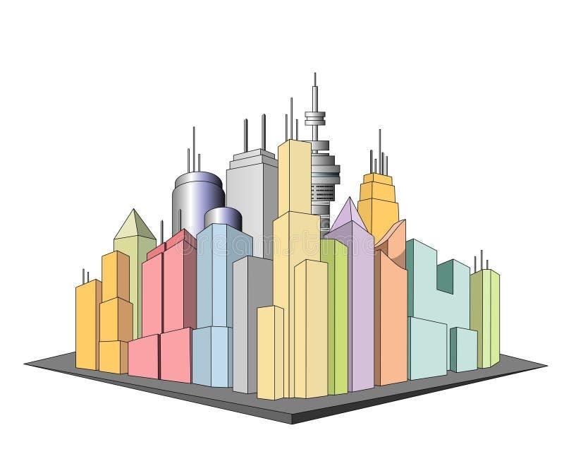 Ícone da cidade ilustração do vetor