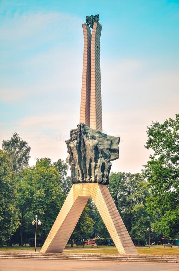 Ícone da cidade de Tychy no Polônia fotografia de stock