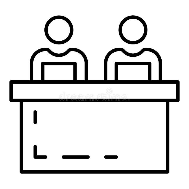 Ícone da coesão do treinador, estilo do esboço ilustração do vetor
