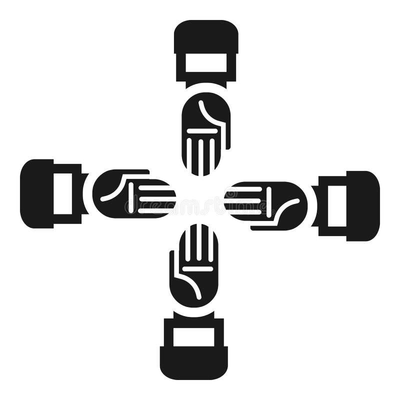 Ícone da coesão da equipe do negócio, estilo simples ilustração do vetor