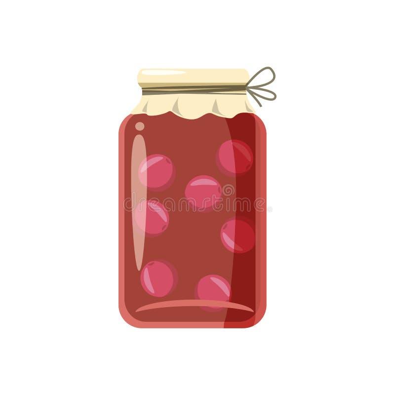Ícone da compota ou do doce de fruto enlatado, estilo dos desenhos animados ilustração do vetor