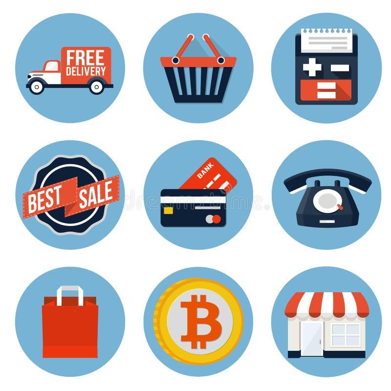 Ícone da compra ilustração stock