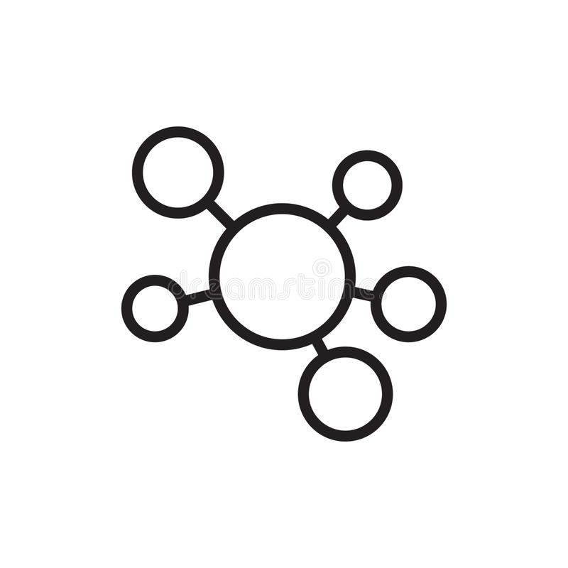 Ícone da conexão de rede do cubo ilustração royalty free