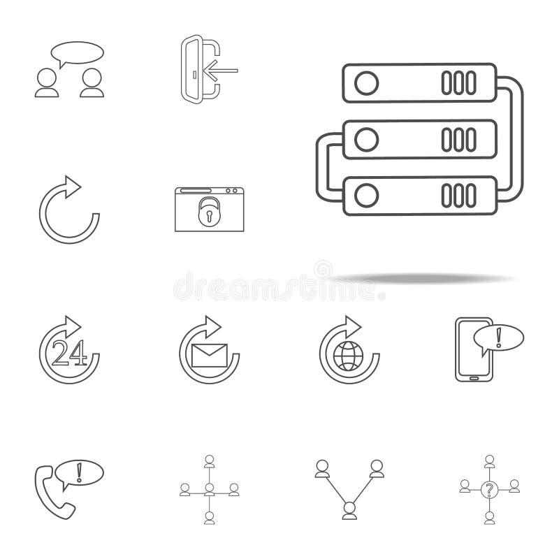 ícone da conexão do disco rígido grupo universal dos ícones da Web para a Web e o móbil ilustração royalty free