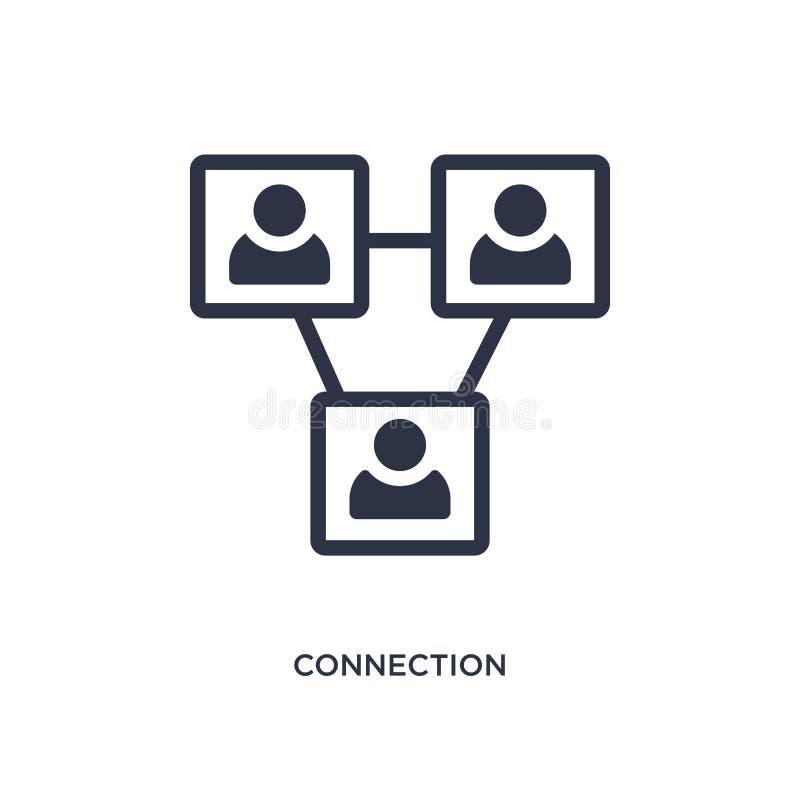 ícone da conexão no fundo branco Ilustração simples do elemento do conceito da estratégia ilustração stock