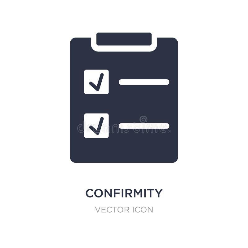 ícone da confirmação no fundo branco Ilustração simples do elemento do conceito de UI ilustração do vetor