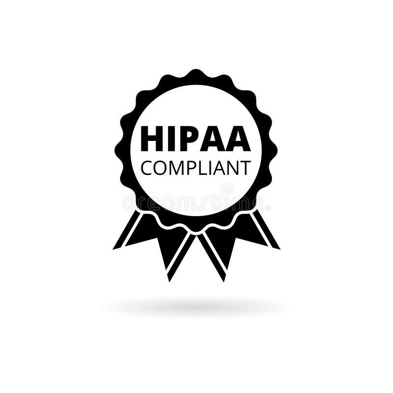 Ícone da conformidade de HIPAA ilustração royalty free