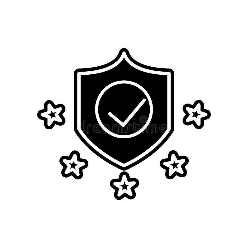 Ícone da conformidade Elemento do projeto dos dados gerais para o conceito e o ícone móveis dos apps da Web Glyph, ícone liso par ilustração do vetor