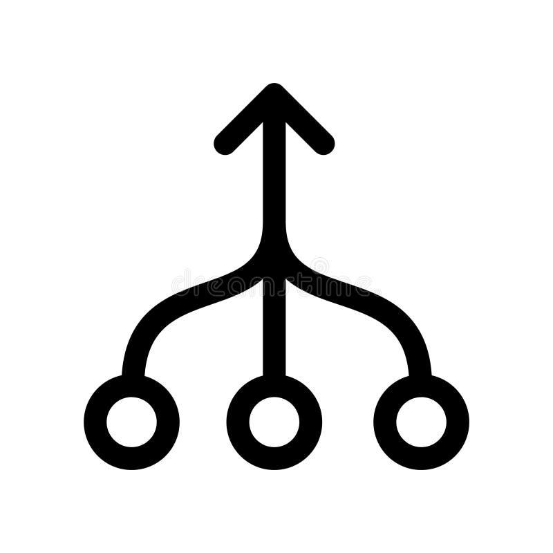 Ícone da consolidação, ilustração do vetor ilustração royalty free