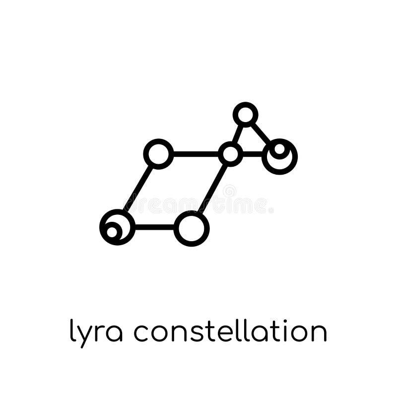 Ícone da constelação de Lyra  ilustração stock