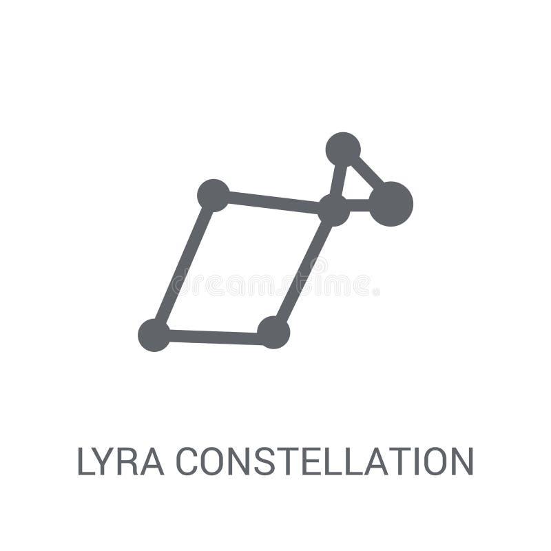 Ícone da constelação de Lyra  ilustração royalty free
