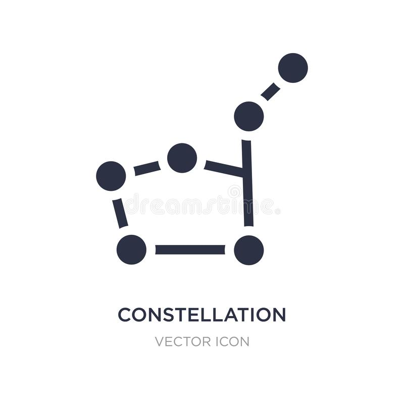 ícone da constelação no fundo branco Ilustração simples do elemento do conceito da astronomia ilustração do vetor