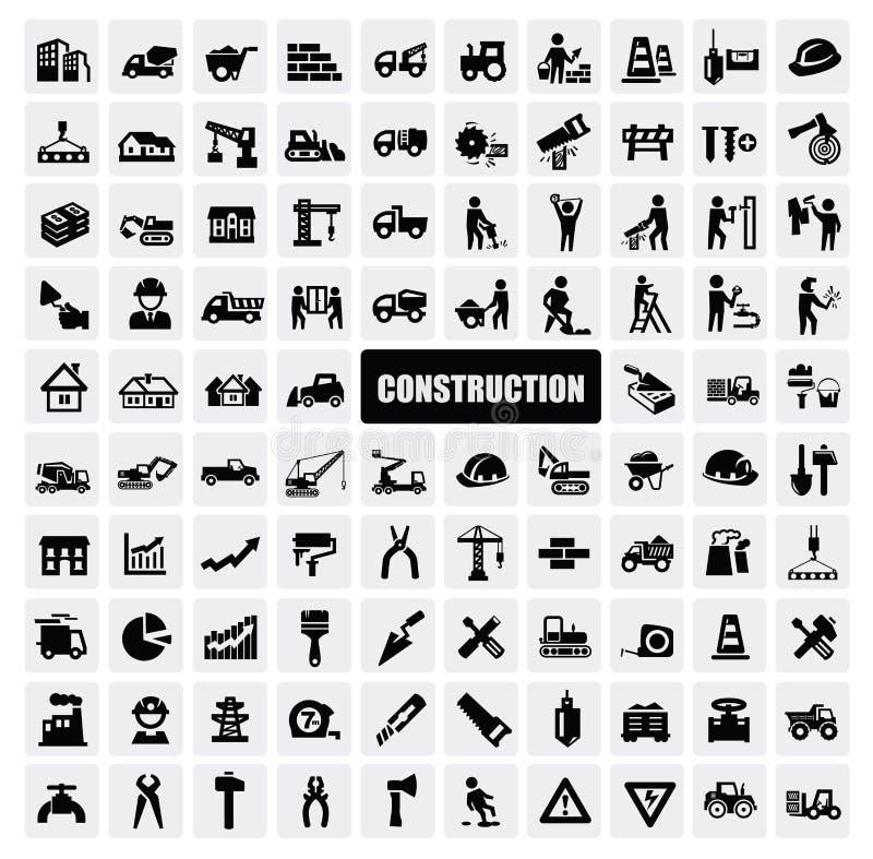 Ícone da construção foto de stock