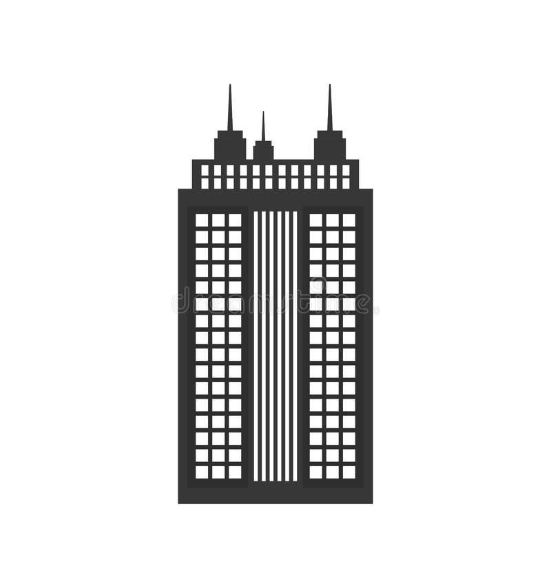 ícone da construção Cidade e projeto urbano Gráfico de vetor imagem de stock royalty free