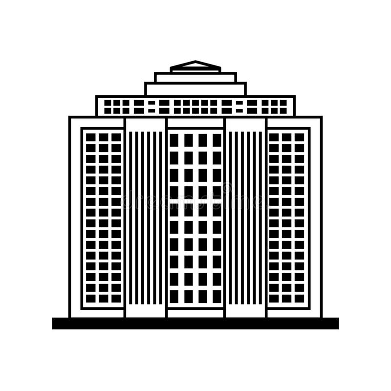 ícone da construção Cidade e projeto urbano Gráfico de vetor imagens de stock