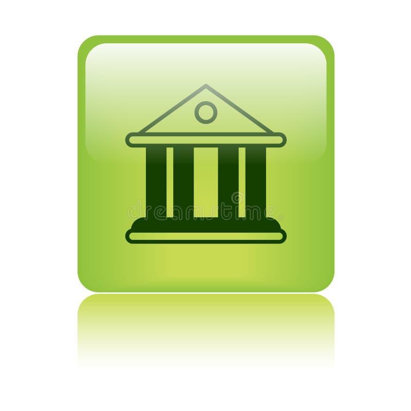 Ícone da construção da corte/banco ilustração royalty free