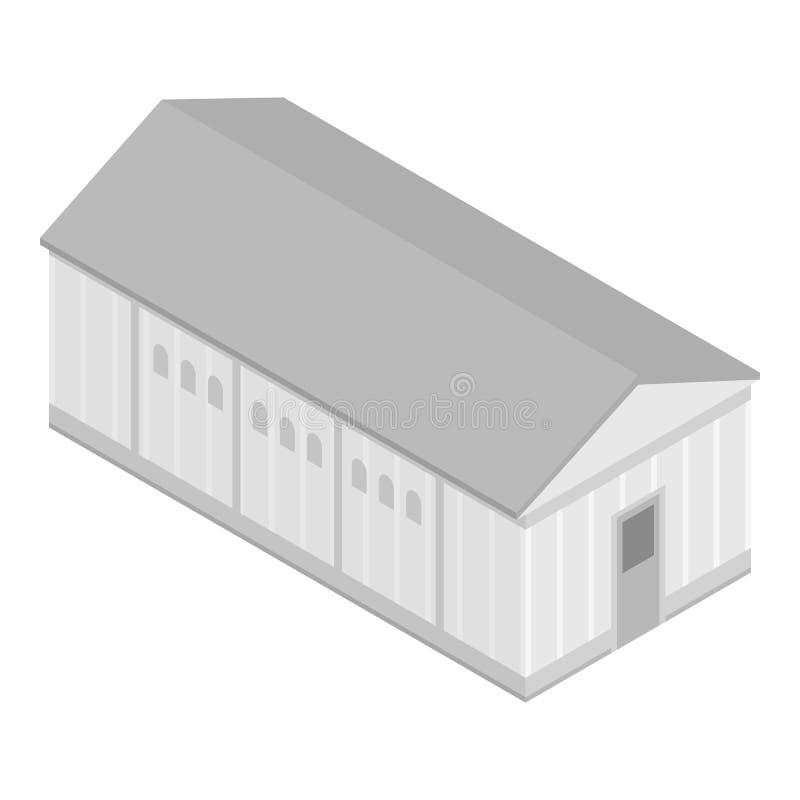 Ícone da construção do armazém, estilo isométrico ilustração do vetor
