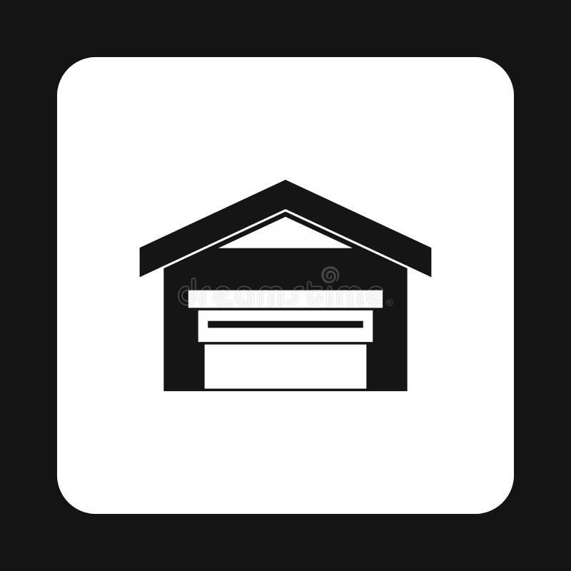 Ícone da construção do armazém, estilo simples ilustração royalty free