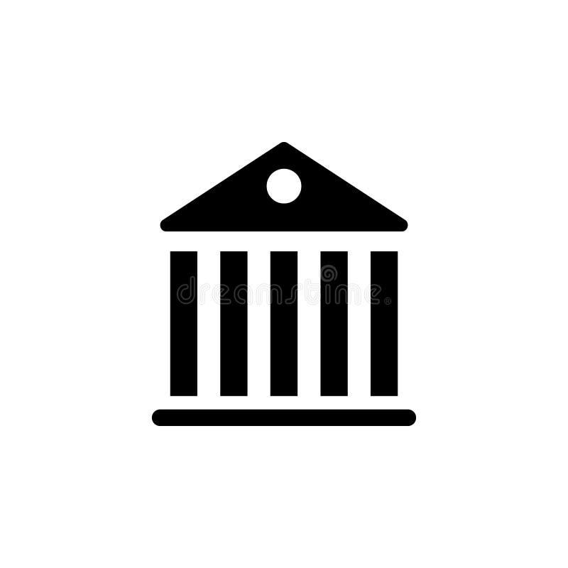 Ícone da construção do panteão do governo Os sinais e os símbolos podem ser usados para a Web, logotipo, app móvel, UI, UX ilustração stock