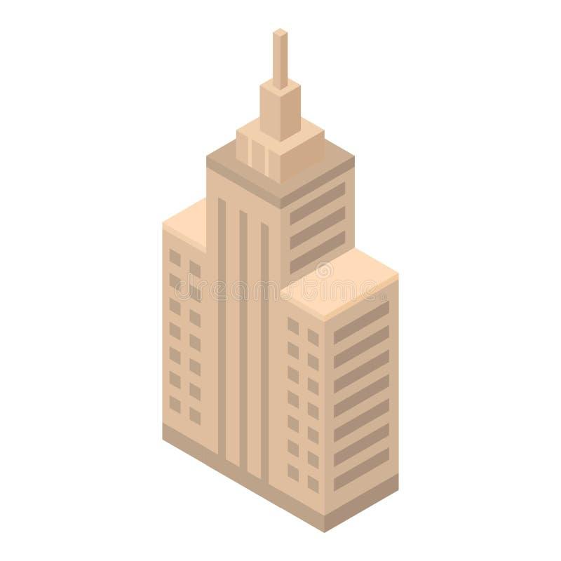 Ícone da construção do parlamento, estilo isométrico ilustração do vetor