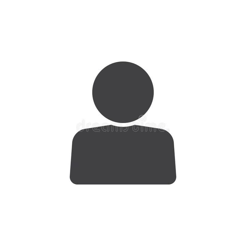 Ícone da conta de utilizador, ilustração contínua do logotipo da pessoa, pictog ilustração stock