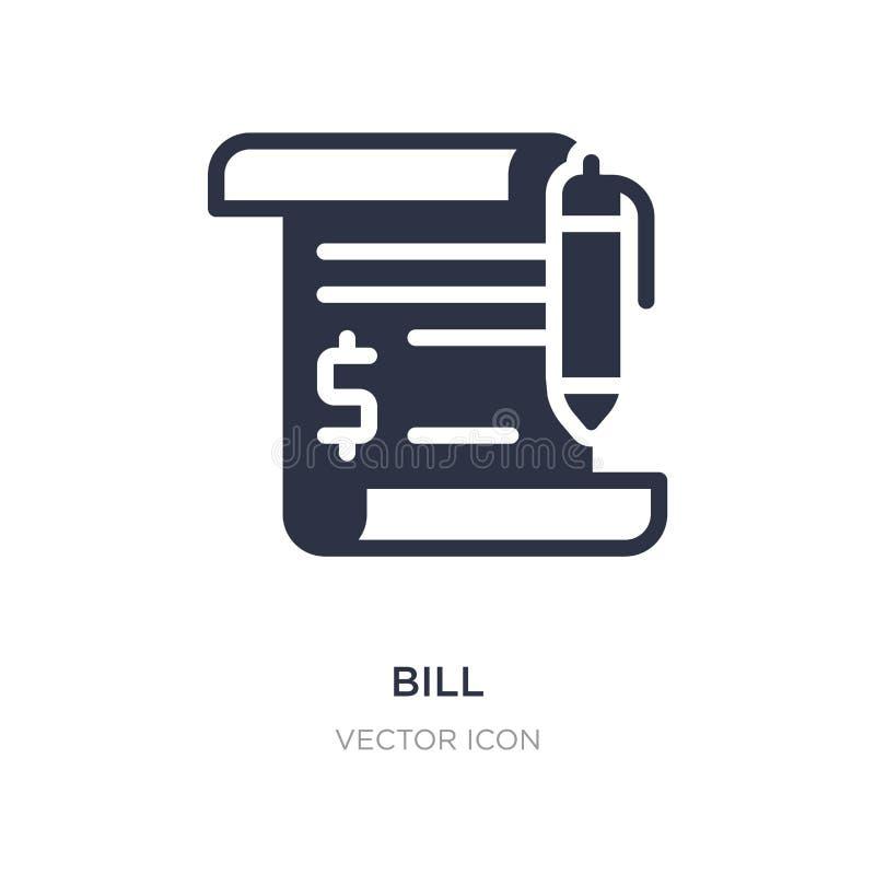 ícone da conta no fundo branco Ilustração simples do elemento do conceito da economia de Digitas ilustração do vetor