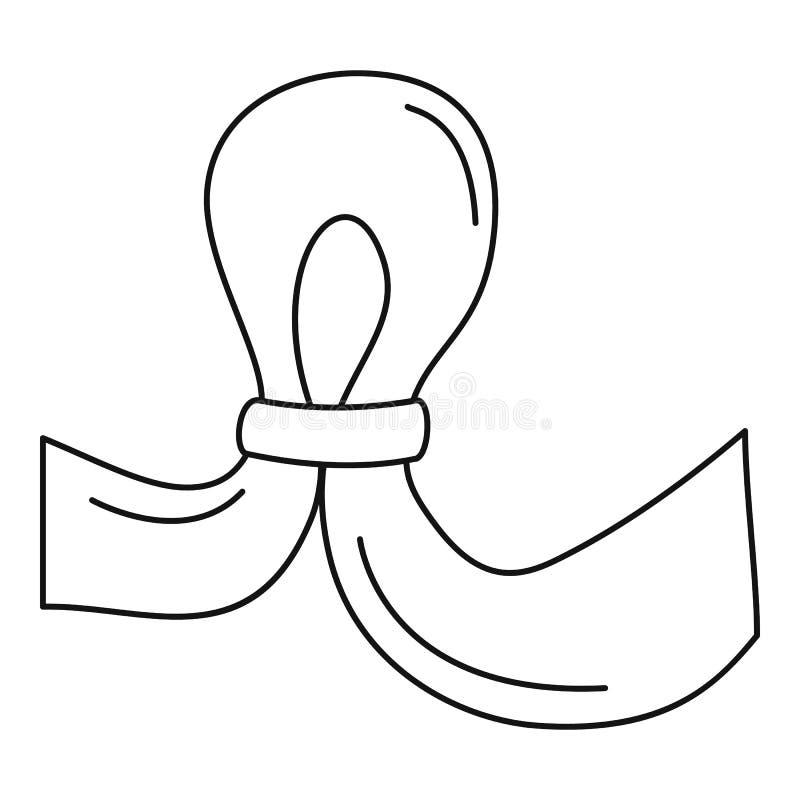 Ícone da contracepção de Uter, estilo do esboço ilustração royalty free
