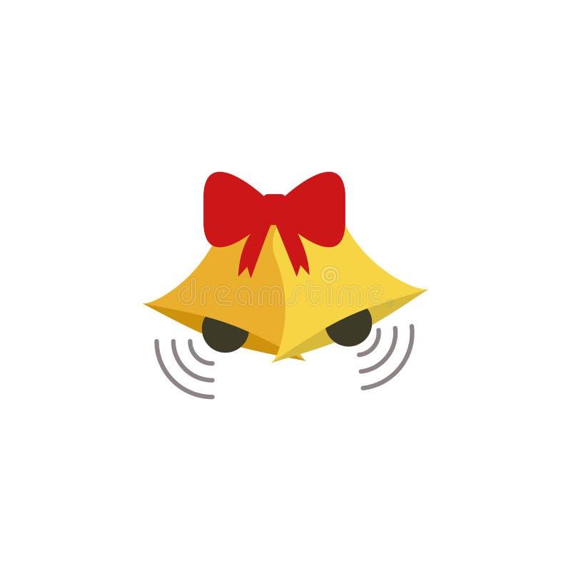 Ícone da cor de Bels Elemento da ilustração do Natal e do ano novo Ícone superior da cor do projeto gráfico da qualidade Sinais e ilustração stock