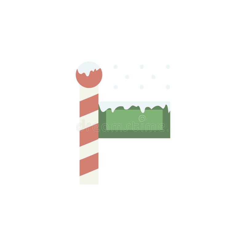 Ícone da cor do inverno do Polo Norte Elementos ícones coloridos do país das maravilhas do inverno de multi Ícone superior do pro ilustração royalty free