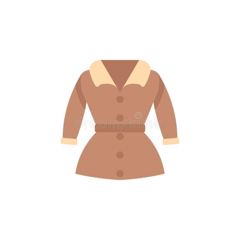 Ícone da cor do revestimento de trincheira Elemento do ícone da roupa da cor para apps móveis do conceito e da Web O ícone detalh ilustração royalty free