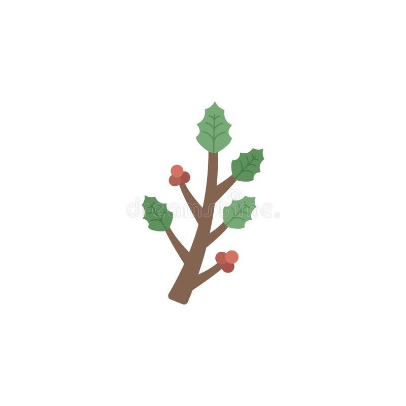 Ícone da cor dos ramos Elementos ícones coloridos do país das maravilhas do inverno de multi Ícone superior do projeto gráfico da ilustração stock
