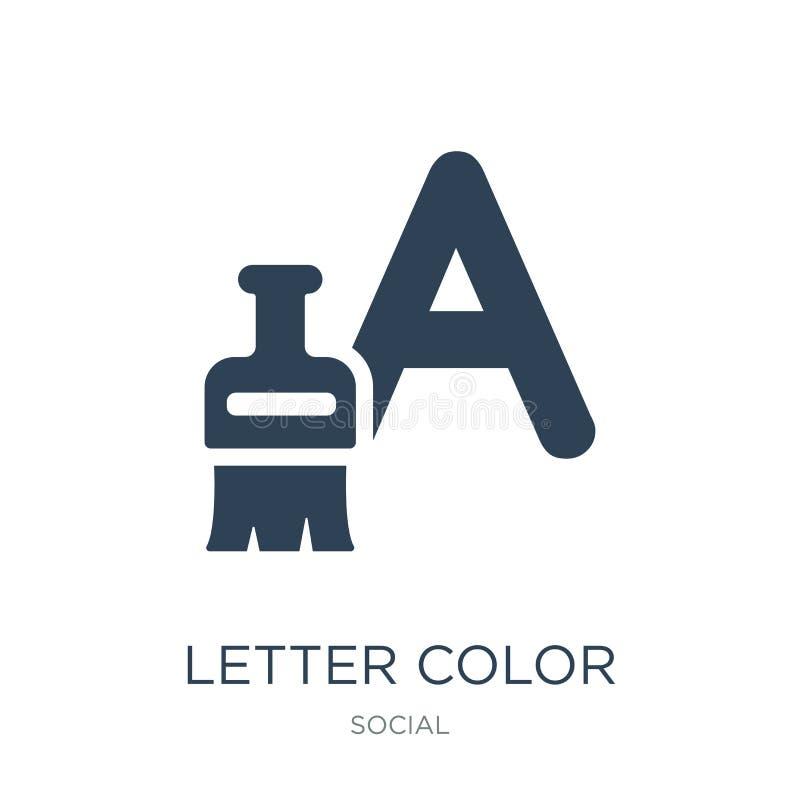 ícone da cor da letra no estilo na moda do projeto ícone da cor da letra isolado no fundo branco ícone do vetor da cor da letra s ilustração do vetor