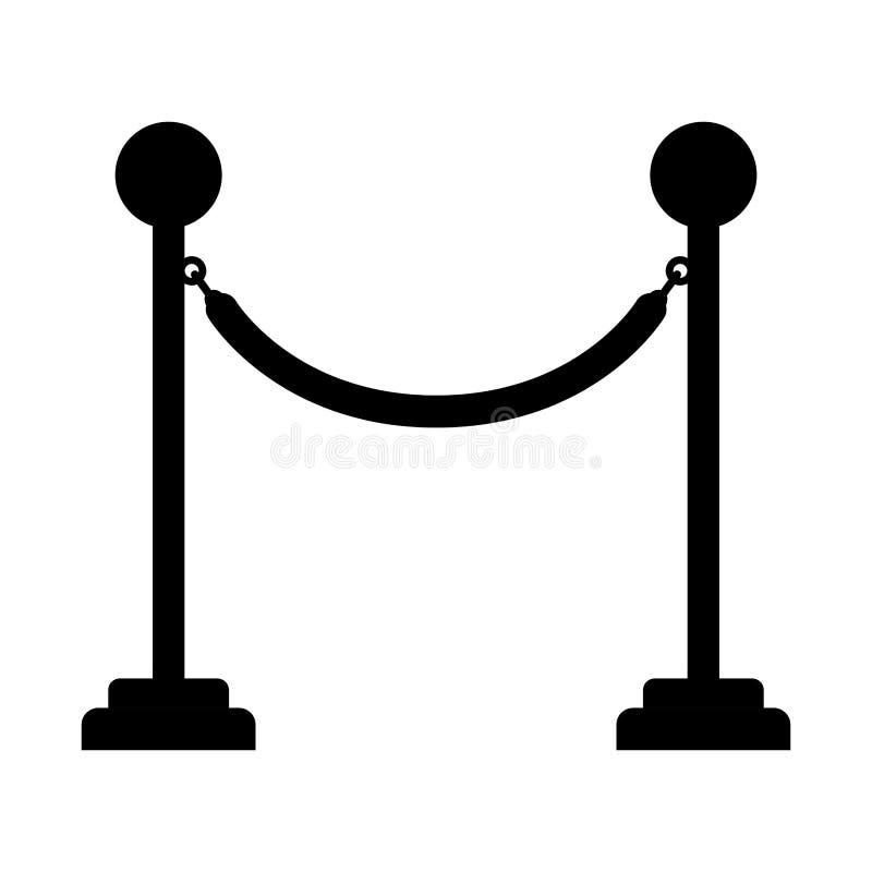 Ícone da corda da barreira ilustração royalty free