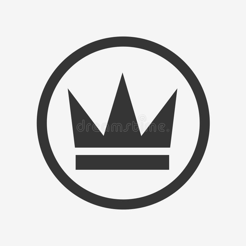 Ícone da coroa ilustração royalty free