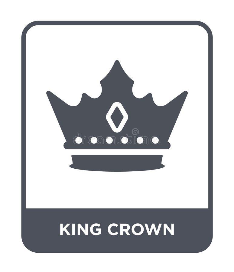 ícone da coroa do rei no estilo na moda do projeto o rei coroa o ícone isolado no fundo branco ícone do vetor da coroa do rei sim ilustração do vetor