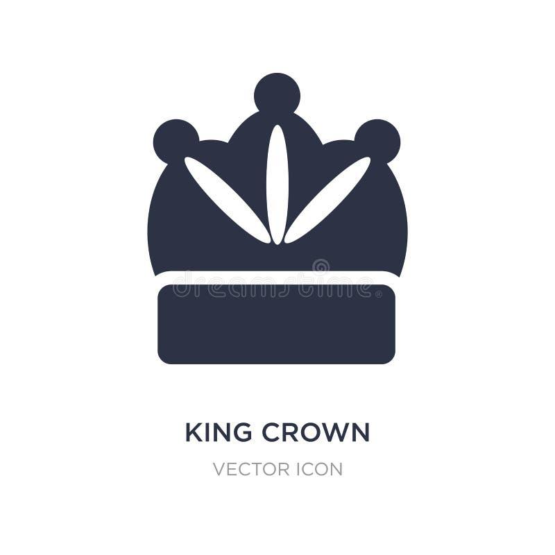 ícone da coroa do rei no fundo branco Ilustração simples do elemento do conceito do partido ilustração royalty free