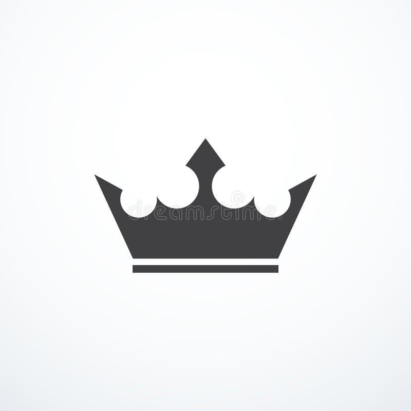 Ícone da coroa do vetor ilustração stock