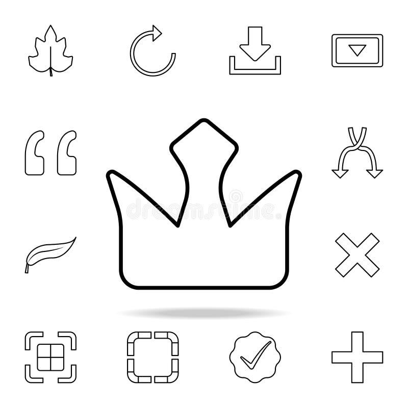 Ícone da coroa Grupo detalhado de ícones simples Projeto gráfico superior Um dos ícones da coleção para Web site, design web, app ilustração do vetor