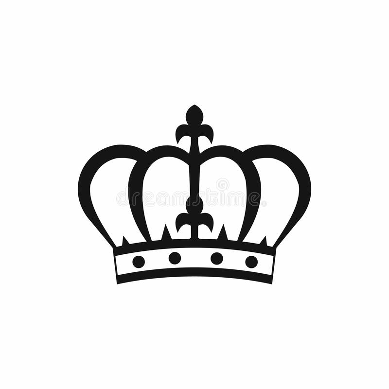 Ícone da coroa no estilo simples ilustração royalty free