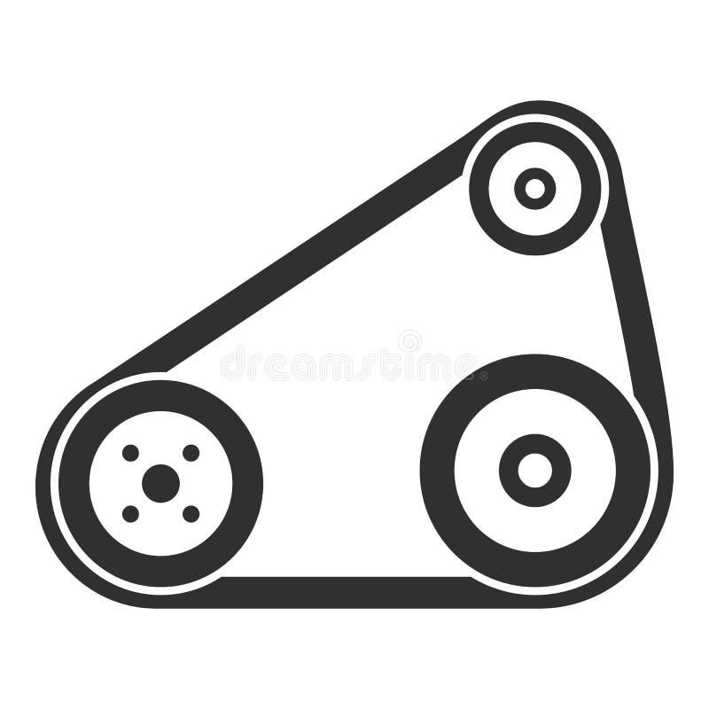 Ícone da correia de sincronismo, estilo simples ilustração do vetor