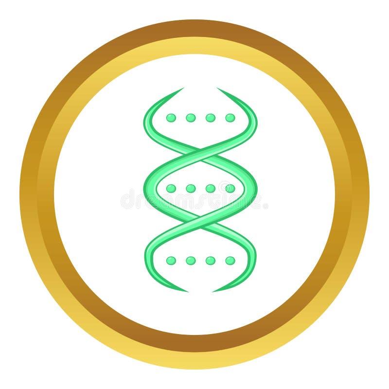Ícone da costa do ADN ilustração do vetor