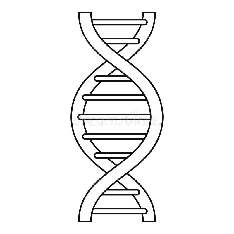 Ícone da costa do ADN, estilo do esboço ilustração do vetor
