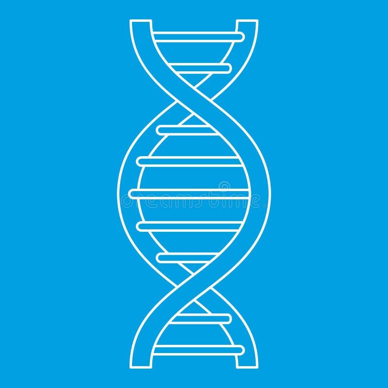 Ícone da costa do ADN, estilo do esboço ilustração royalty free