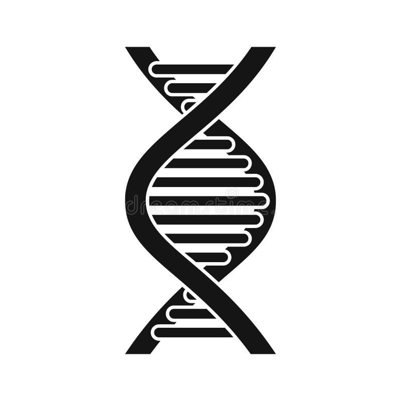 Ícone da costa do ADN, estilo simples ilustração stock