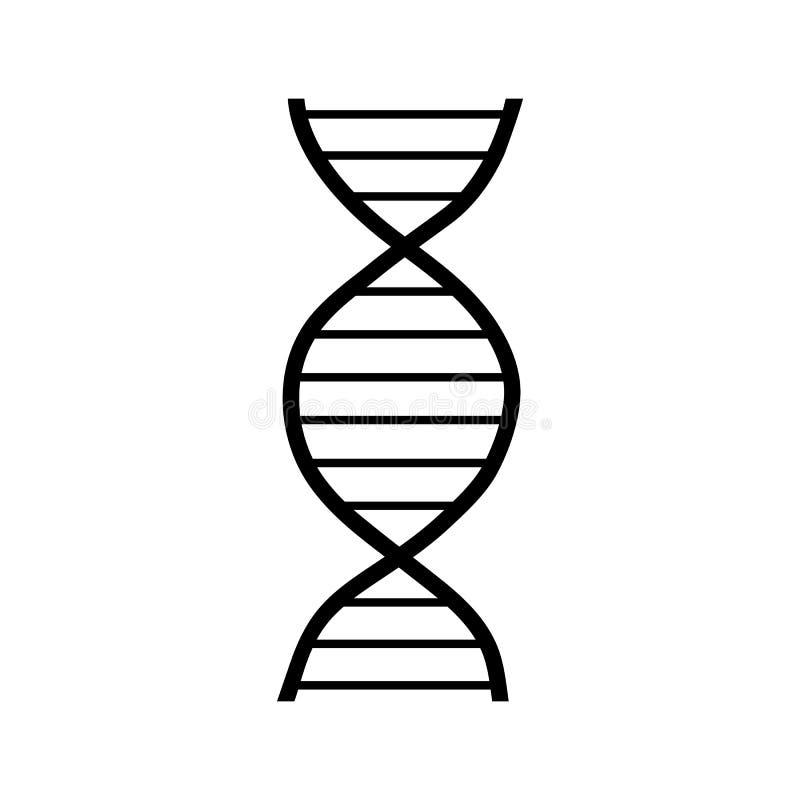 Ícone da costa do ADN, estilo simples ilustração royalty free
