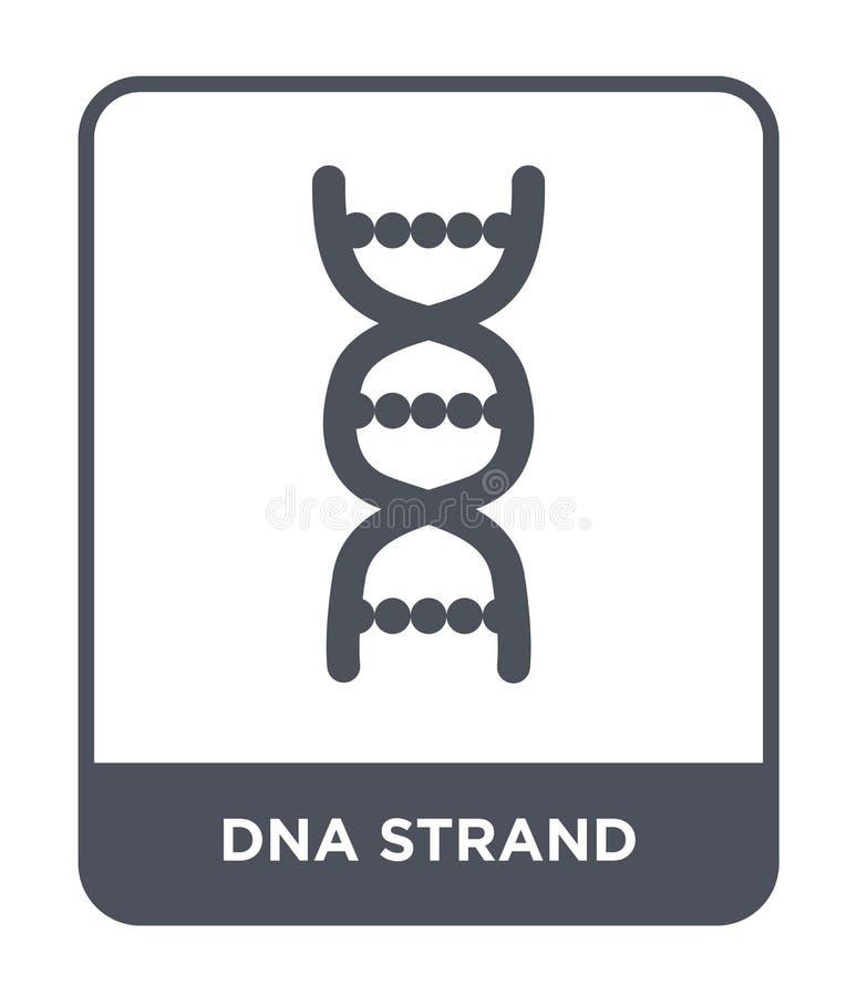 ícone da costa do ADN no estilo na moda do projeto Ícone da costa do ADN isolado no fundo branco ícone do vetor da costa do ADN s ilustração stock